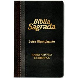 Bíblia Sagrada Com Harpa Avivada e Corinhos | Letra Hipergigante | ARC | Capa Laminada