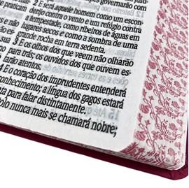 Bíblia Sagrada Com Harpa Avivada e Corinhos | Letra Ultragigante | ARC | Capa Ramos PU Pink Luxo