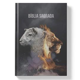 Bíblia Sagrada Cordeiro e Leão | NAA Letra Normal | Capa Dura
