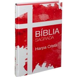 Bíblia Sagrada Cruz | ARC | Harpa Cristã | Capa Dura