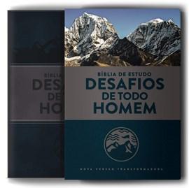Bíblia Sagrada de Estudo Desafios de Todo Homem | NVT | Azul