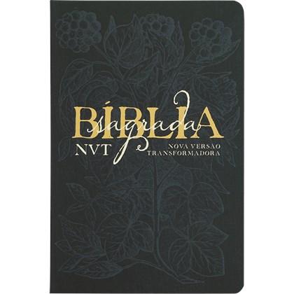 Bíblia Sagrada Éden Azul   NVT   Letra Grande   Capa Dura Soft Touch
