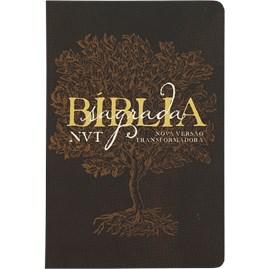 Bíblia Sagrada Éden Marrom | NVT | Letra Grande | Capa Dura Soft Touch