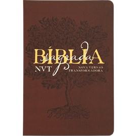 Bíblia Sagrada Éden Vinho | NVT | Letra Grande | Capa Dura Soft Touch