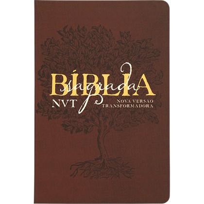 Bíblia Sagrada Éden Vinho   NVT   Letra Grande   Capa Dura Soft Touch