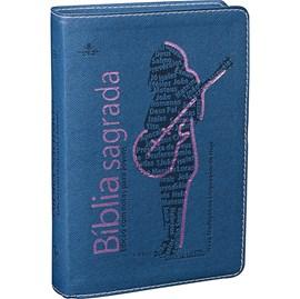 Bíblia Sagrada Edição com Notas para Jovens | NTLH Letra Normal | Capa Azul
