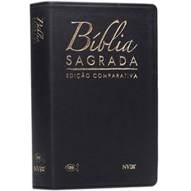Bíblia Sagrada Edição Comparativa | ARC e NVI | Letra Média | Capa Luxo