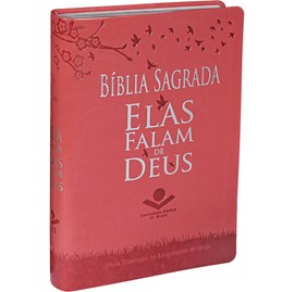 Bíblia Sagrada Elas Falam de Deus | Letra Normal | NTLH | Capa Pêssego Couro