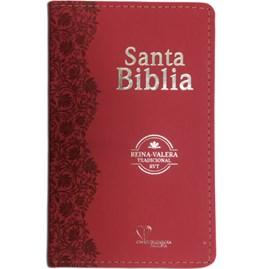 Bíblia Sagrada em Espanhol RVT | Avermelhada/Rojiza Luxo C/ Flores
