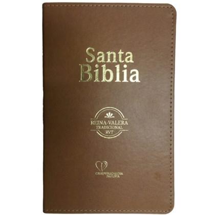 Bíblia Sagrada em Espanhol RVT | Marrom Luxo C/ Dourado