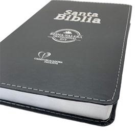 Bíblia Sagrada em Espanhol RVT   Preto Luxo C/ Prata