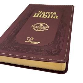 Bíblia Sagrada em Espanhol RVT | Vinho C/ Dourado