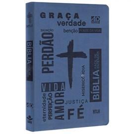 Bíblia Sagrada Fácil de Entender | NTLH Letra Normal | Capa Cruz Azul