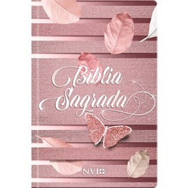 Bíblia Sagrada Feminina Borboleta | NVI | Letra Normal | Capa Dura