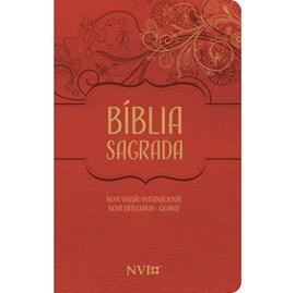 Bíblia Sagrada Feminina | NVI | Letra Gigante | Nova Ortografia Capa Luxo Vermelha