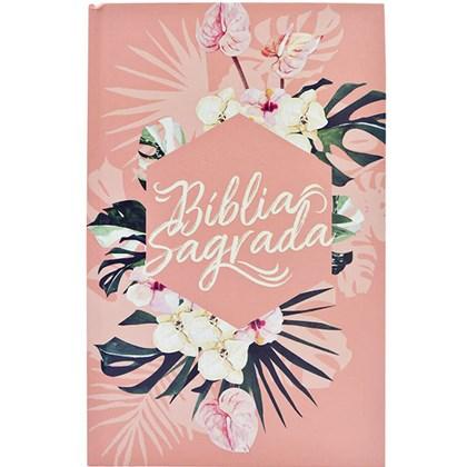 Bíblia Sagrada Flores | ACF | Letra Normal | Capa Dura
