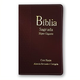 Bíblia Sagrada Harpa Avivada e Corinhos  | ARC | Letra Hipergigante | Índice |  Luxo Vinho