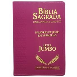 Bíblia Sagrada Harpa Avivada e Corinhos | ARC | Letra Jumbo | Índice | Luxo Pink