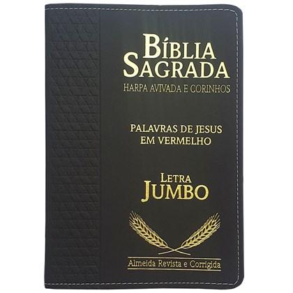 Bíblia Sagrada Harpa Avivada e Corinhos | ARC | Letra Jumbo | Índice | Luxo Preta