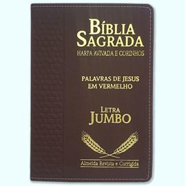 Bíblia Sagrada Harpa Avivada e Corinhos   ARC   Letra Jumbo   Índice   Luxo Vinho
