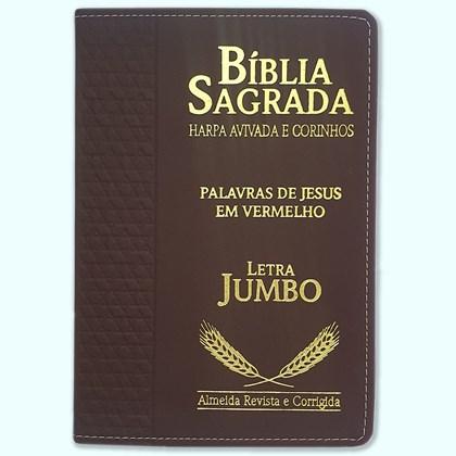 Bíblia Sagrada Harpa Avivada e Corinhos | ARC | Letra Jumbo | Índice | Luxo Vinho