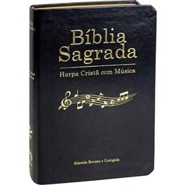 Bíblia Sagrada Harpa Cristã com Música | ARC | Capa Preta