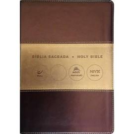 Bíblia Sagrada - Holy Bible | Português e Inglês | NVI Letra Normal | Champagne e Ouro