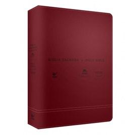 Bíblia Sagrada - Holy Bible | Português e Inglês | NVI | Letra Normal | Vermelha