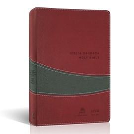 Bíblia Sagrada - Holy Bible | Português e Inglês | NVI/NIV | Vinho e Cinza
