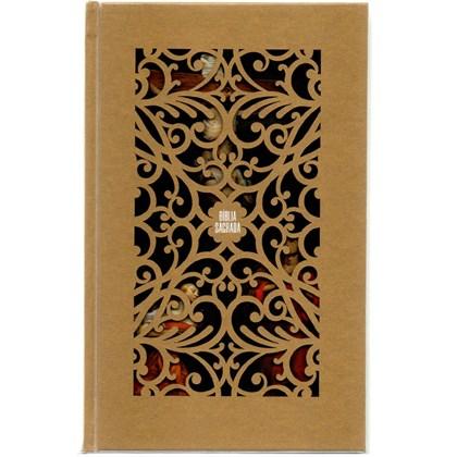 Bíblia Sagrada Jesus Cristo Artística | NVI | Letra Normal | Capa Dura Dourada