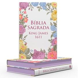 Bíblia Sagrada King James 1611 Flores Coloridas | BKJ | Letra Normal | Capa Dura