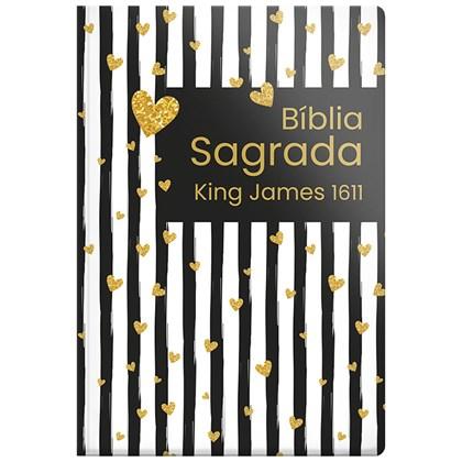 Bíblia Sagrada King James 1611 Listrada Coração | BKJ | Letra Normal | Capa Dura