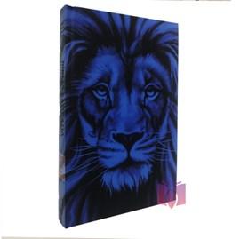 Bíblia Sagrada Leão Azul Com Harpa Avivada e Corinhos | Letra Grande | ARC | Capa Dura