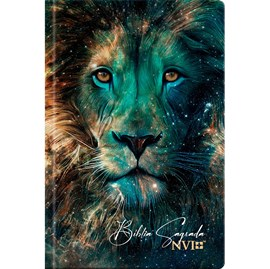 Bíblia Sagrada Leão Estrelas | NVI | Letra Normal | Capa Dura