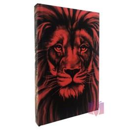 Bíblia Sagrada Leão Vermelho Com Harpa Avivada e Corinhos | Letra Grande | ARC  | Capa Dura