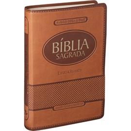 Bíblia Sagrada | Letra Gigante | ARA | Capa Marrom Claro Luxo | c/ Índice
