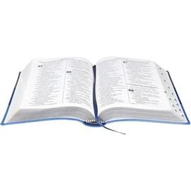 Bíblia Sagrada | Letra Gigante | ARA | Capa Triotone Azul Luxo c/ Índice
