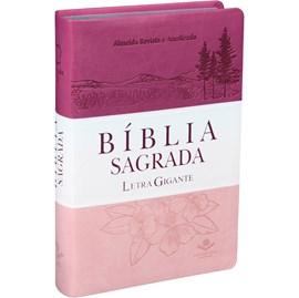 Bíblia Sagrada | Letra Gigante | ARA | Capa Triotone Pink Luxo