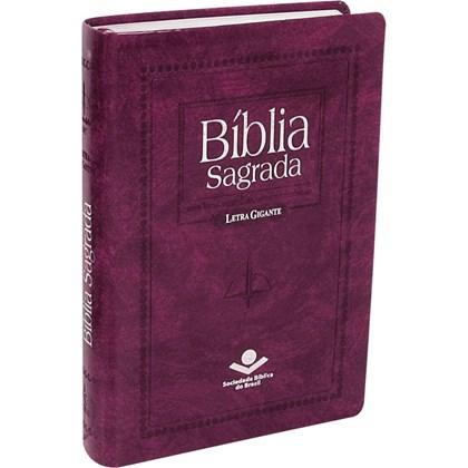 Bíblia Sagrada | Letra Gigante | ARC | Capa Couro Púrpura Nobre Luxo | c/ Índice