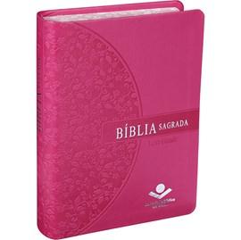 Bíblia Sagrada | Letra Grande | ARA | Capa Pink Florida