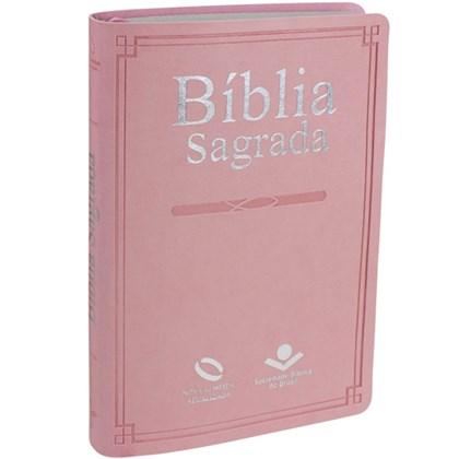 Bíblia Sagrada | Letra Normal | NAA | Capa Rosa Claro