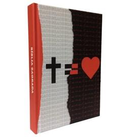 Bíblia Sagrada | Letra Normal | NAA |  Cruz Grace Love Tricolor Branco e Preto