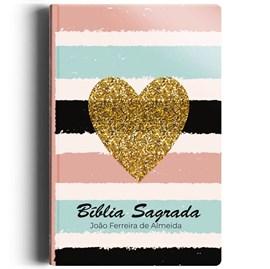 Biblia Sagrada Listrada Coração | ARC | Letra Normal | Semi-luxo