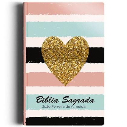 Bíblia Sagrada Listrada Coração | ARC | Letra Normal | Semi-luxo
