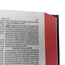 Bíblia Sagrada Média com Zíper | Letra Normal ARC | Harpa Avivada e Corinhos | PU Lilás