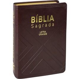 Bíblia Sagrada Média   NAA   Letra Grande   Marrom Nobre C/ Índice