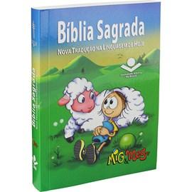 Bíblia Sagrada Mig e Meg | Letra Normal | NTLH | Capa Ilustrada Azul
