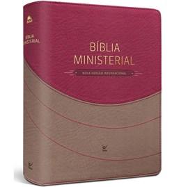 Bíblia Sagrada Ministerial | NVI | Marrom Claro e Vemelho | c/ Índice