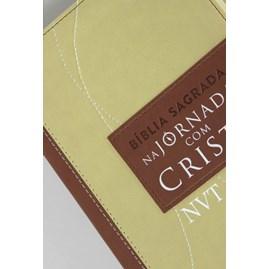 Bíblia Sagrada na Jornada com Cristo | NVT Letra Grande | Capa Marrom