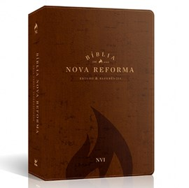 Bíblia Sagrada Nova Reforma | NVI | Letra Normal | Capa PU Marrom Texturizado